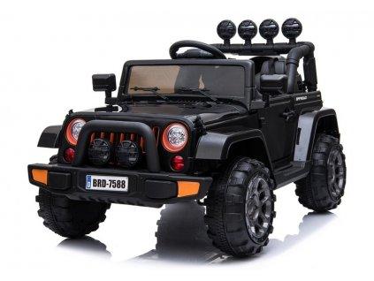 mamido Dětské elektrické auto Jeep BRD 4x4 černé 3