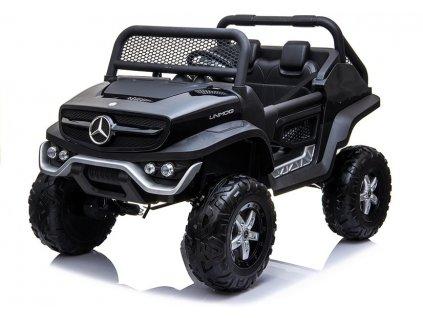 mamido Dětské elektrické autíčko Mercedes Unimog 4x4 černé 2