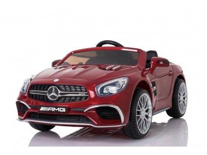 mamido Elektrické autíčko Mercedes SL65 LCD lakované červené 3