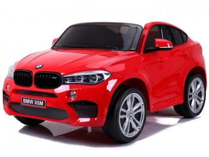 mamido Elektrické autíčko BMW X6 M dvoumístné XXL červené 4