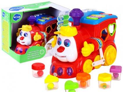 mamido Interaktivní mašinka s barevnými bloky 6