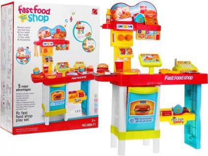 velká dětské kuchynka vyroba hamburgeru fastfood (4)