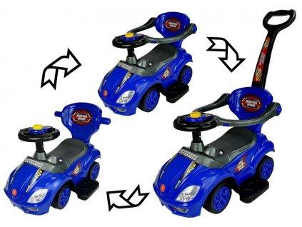 dětské multifunkční odrážedlo 3v1 modré (3)