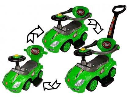 dětské odrážedlo s vodící tyčí zelené (12)