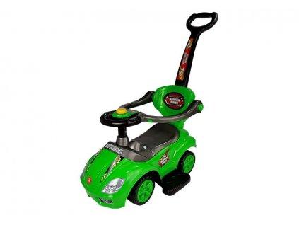 dětské odrážedlo s vodící tyčí zelené (3)