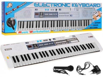 dětský keyboard bílý xxl (1)