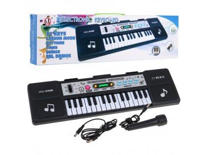 dětský keyboard černý (1)