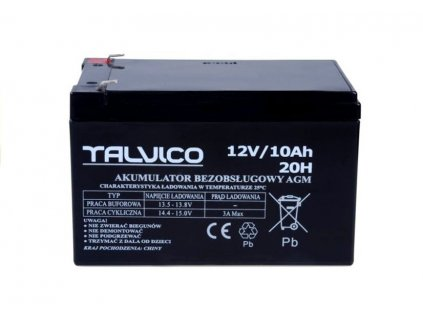 Gelova bezudrzbova baterie pro elektricka auticka 12V 10Ah