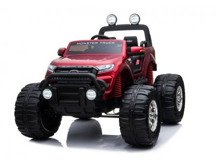 elektrické autíčko ford ranger monster lakované červené (2)