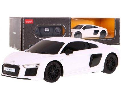 Auto na dálkové ovládání R/C Audi R8 Rastar 1:24 bílé