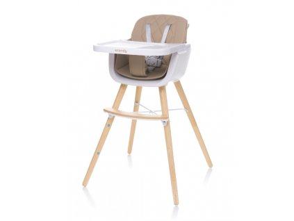 Jídelní židlička 4Baby Scandy XX camel