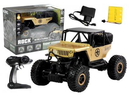 Auto na dálkové ovládání Jeep zlaté