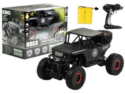 Auto na dálkové ovládání Jeep černé