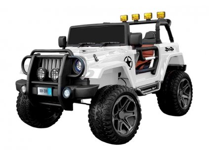 elektrické autíčko jeep bílé
