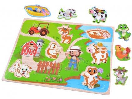 dřevěné puzzle farma (1)