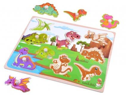 dřevěné puzzle dinosauři (1)