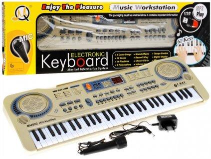 Keyboard s mikrofonem a USB vstupem, přenosné klávesy