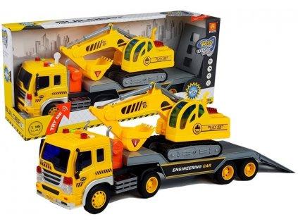 kamion s bagrem (1)