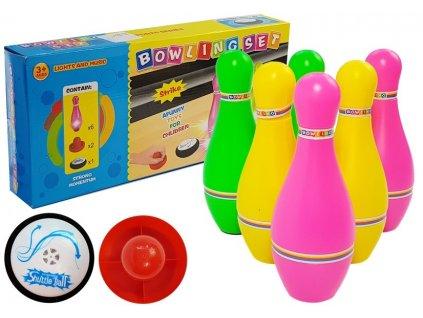 Bowlingová sada 6 barevných kuželek