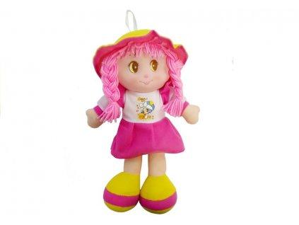 Plyšová panenka 35 cm růžová