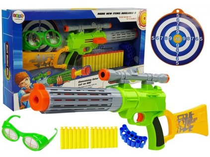 Dětská zbraň s terčem zelená