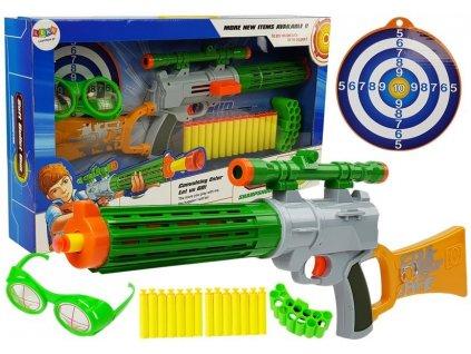 Dětská zbraň s terčem šedá