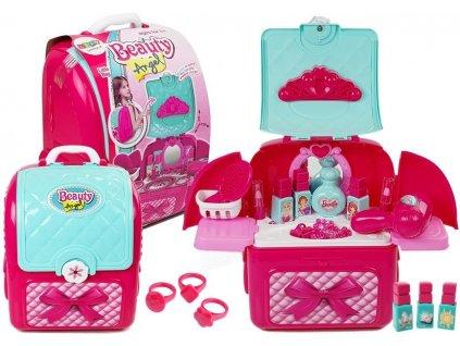 Kosmetická sada v batohu růžová