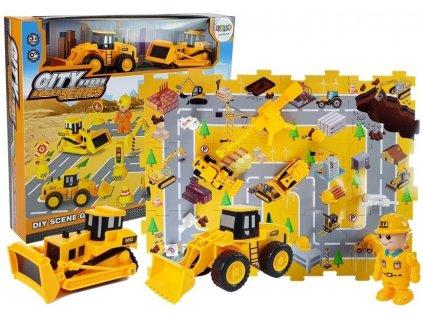 Sada stavebních vozidel staveniště