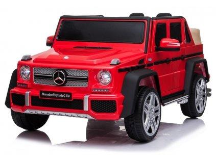 elektrické autíčko mercedes benz lakované červené (1)