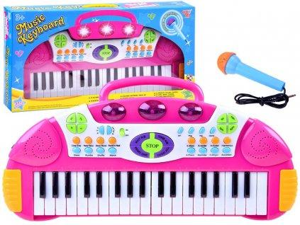 Dětský keyboard růžový