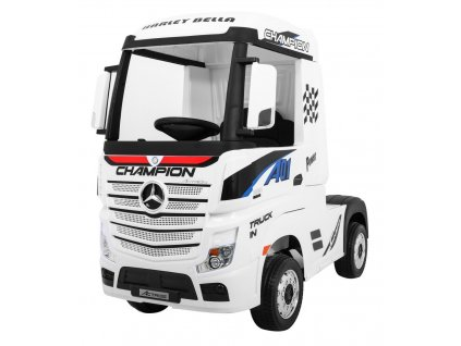 Elektrické autíčko kamion Mercedes Benz Actros bílé