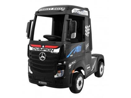 Elektrické autíčko kamion Mercedes Benz Actros černé 8