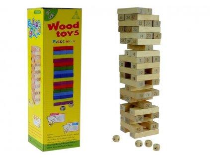 Dřevěná společenská hra Jenga 3