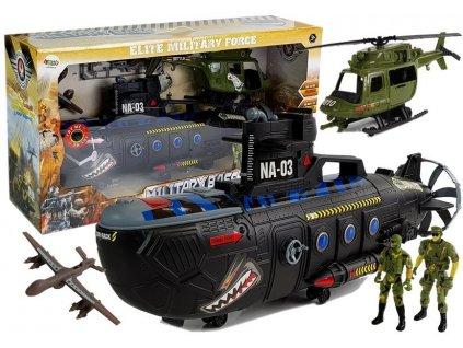 Vojenská sada ponorka a vrtulník