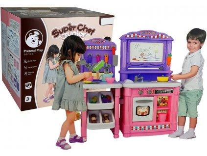 Dětská kuchyňka SuperChef růzová