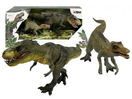 Dvě figurky Tyrannosaurů