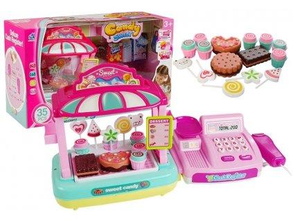 Dětská pokladna se stánkem sladkostí