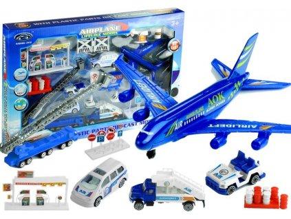 Sada letiště s letadlem