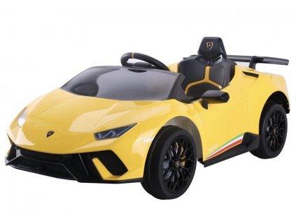 Dětské elektrické autíčko Lamborghini Huracan žluté