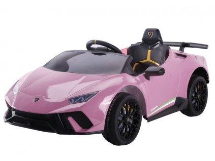 Dětské elektrické autíčko Lamborghini Huracan růžové