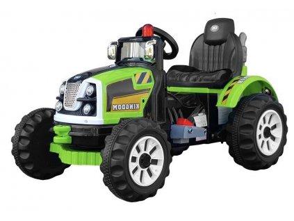 Dětský elektrický traktor Kingdom zelený