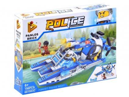 stavebnice policejní člun (1)