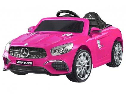 Dětské elektrické autíčko Mercedes S63 AMG růžové 1