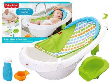 Dětská vanička 4v1 Fisher Price pro miminka (2)