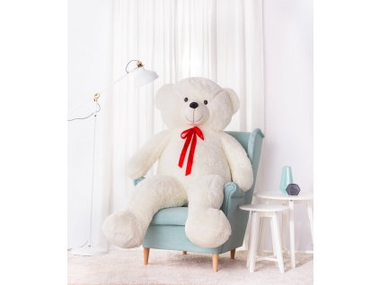 Velký plyšový medvěd Bueno bílý 190 cm 1