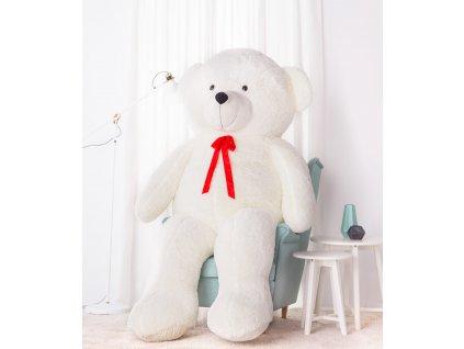 Velký plyšový medvěd Bueno bílý 220 cm