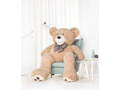 Velký plyšový medvěd Amigo béžový 190 cm