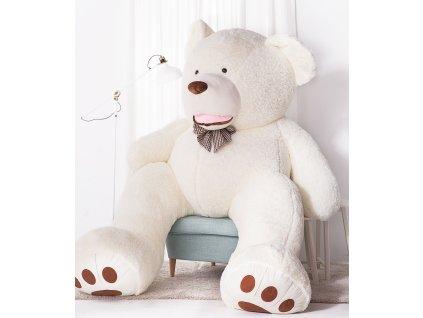 xVelký plyšový medvěd XXL Amigo bílý 270 cm
