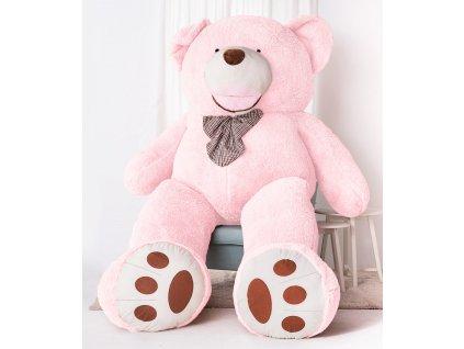 Velký plyšový medvěd XXXL Amigo růžový 300 cm