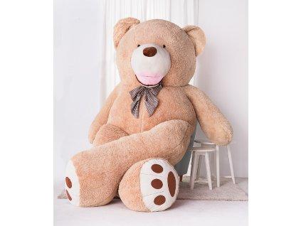 Velký plyšový medvěd XXXL Amigo béžový 330 cm